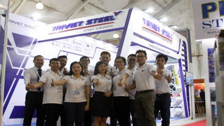 Welcome to visit Triviet Steel booth at Myanbuild Exhibition 2017