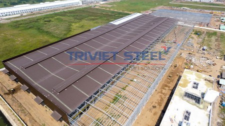 Triviet Steel - Erection Steel Frame Of Factory